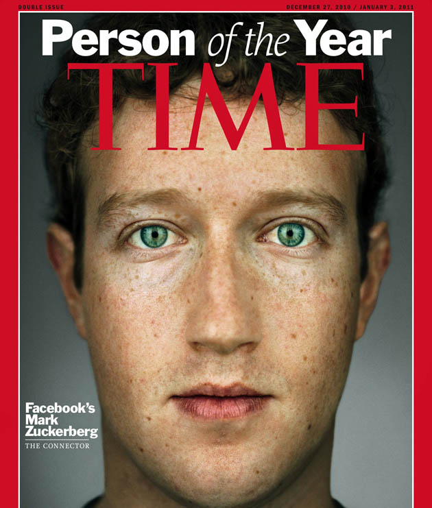 Mark Zuckerberg Time Person of the Year controversial Facebook founder movie boost?
