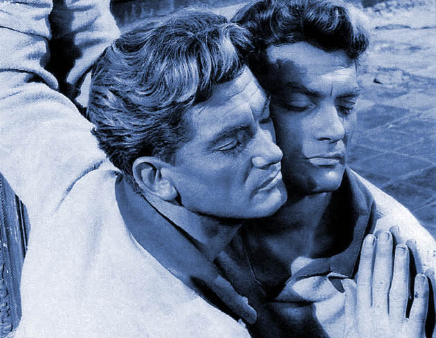 Orpheus: Jean Marais as poet in love with Death travels to dark space in between