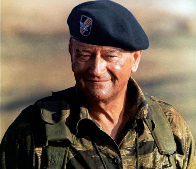The Green Berets John Wayne are Fade Out + Night of the Living Dead is Fade In