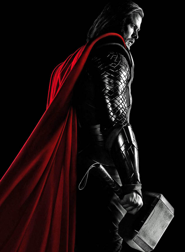Thor poster Chris Hemsworth: artwork featuring 1 more brooding 21st century Marvel superhero
