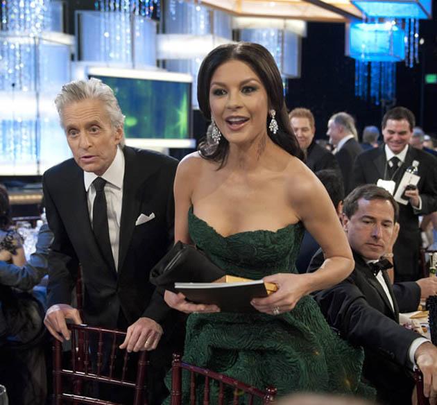 Catherine Zeta-Jones husband Michael Douglas Golden Globes comeback