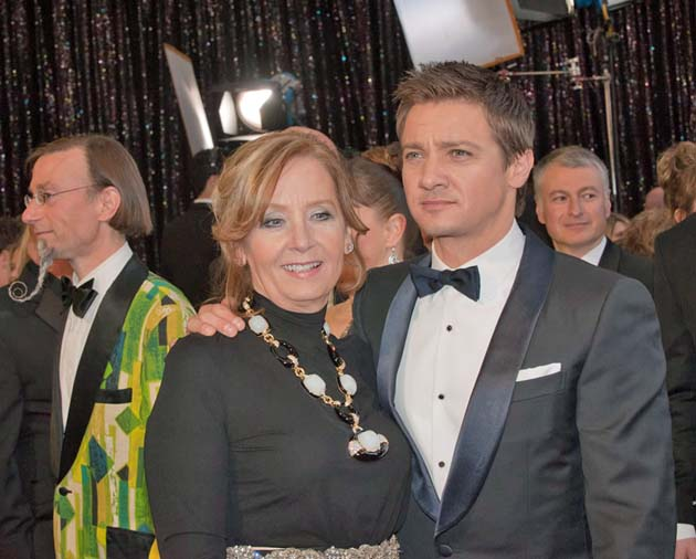 Jeremy Renner and mother Valerie Cearley