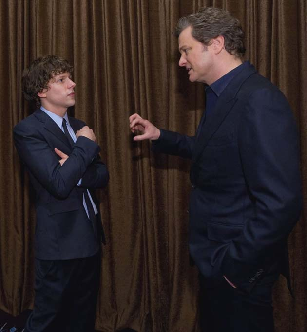 Jesse Eisenberg Colin Firth Best Actor competitors chat