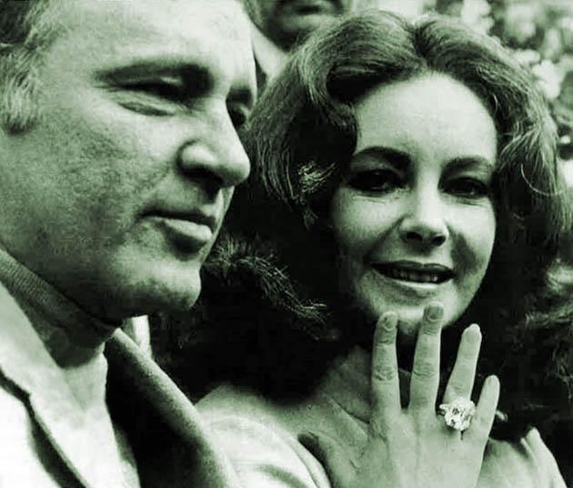 Elizabeth Taylor diamond ring jewelry + Richard Burton: Record-setting exorbitant auction sale