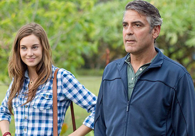 The Descendants George Clooney Shailene Woodley. Middle-aged white man tale is awards season fave