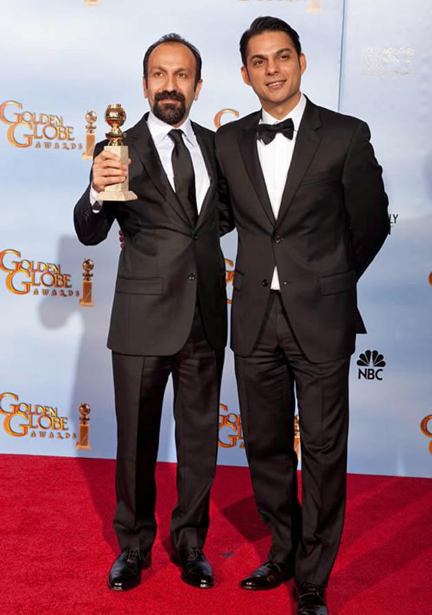 Asghar Farhadi Peyman Moaadi Golden Globes Best Foreign Language Film winner