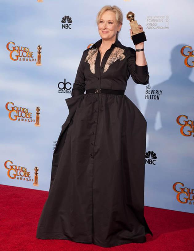 Meryl Streep Best Actress Golden Globe winner