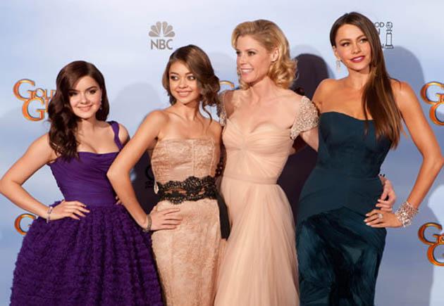 Sofia Vergara Julie Bowen Ariel Winter Sarah Hyland Modern Family cast