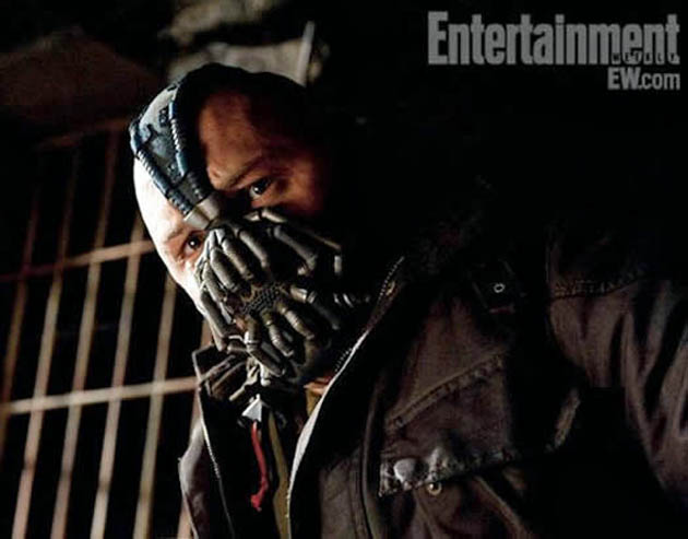 The Dark Knight Rises villain Bane unintelligible Tom Hardy