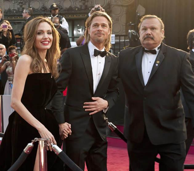 Angelina Jolie and Brad Pitt Oscars' Red Carpet