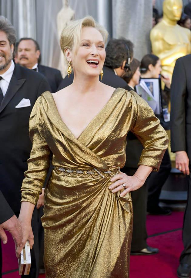 Meryl Streep Oscar Red Carpet Ready for victory