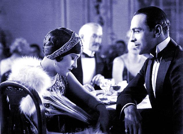 Ricardo Cortez Gloria Swanson in A Society Scandal: silent era Latin Lover and Pre-Code era multiethnic heel