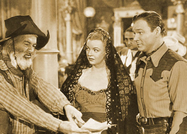 Roy Rogers with Dale Evans in Rainbow over Texas plus George Gabby Hayes: But Trigger his most intimate film companion