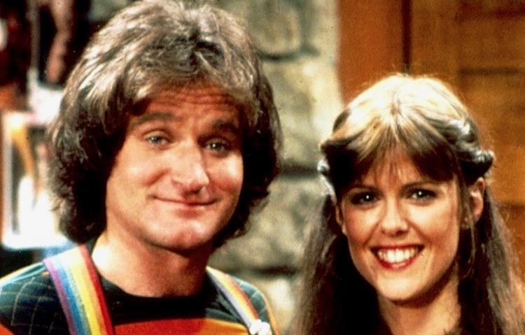Robin Williams Mork and Mindy Pam Dawber
