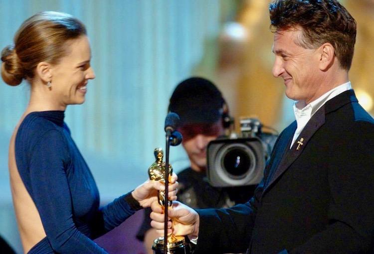 Hilary Swank Sean Penn Oscar