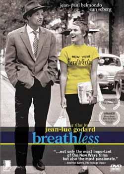 A bout de souffle / Breathless (1960) directed by Jean-Luc Godard, starring Jean-Paul Belmond, Jean Seberg