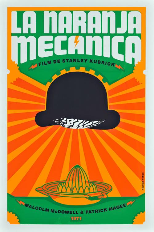 A Clockwork Orange Naranja Mecanica poster
