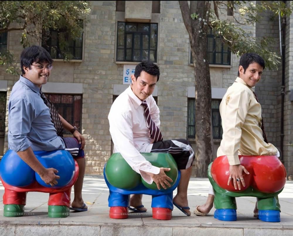 Aamir Khan 3 Idiots Sharman Joshi R. Madhavan
