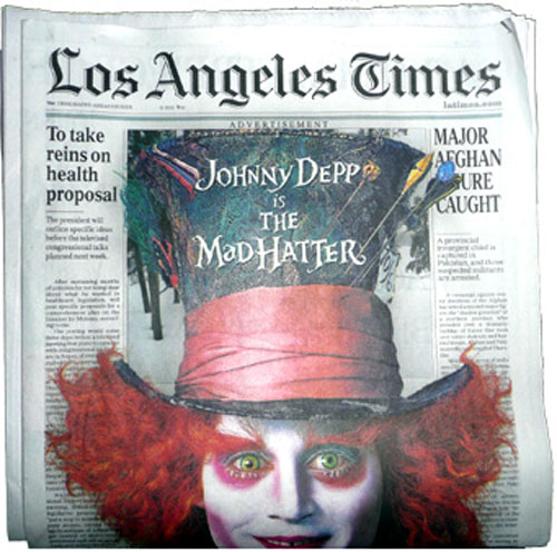 Alice in Wonderland - Los Angeles Times ad
