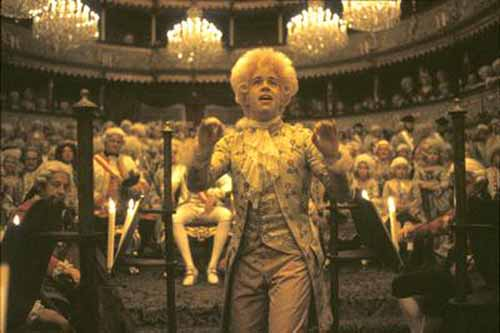 Tom Hulce in Amadeus by Milos Forman