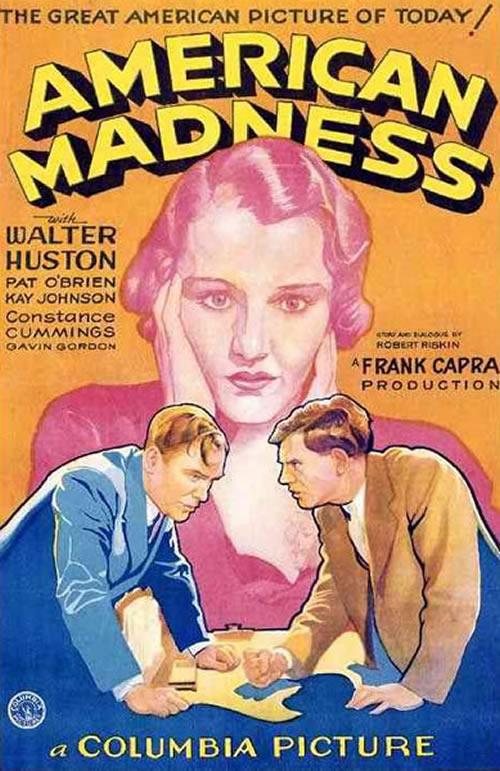 American Madness Frank Capra Walter Huston