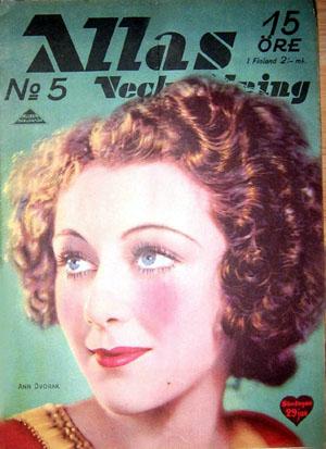 Ann Dvorak Allas magazine cover