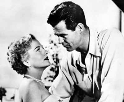 Joan Fontaine, Robert Ryan in Born to Be Bad