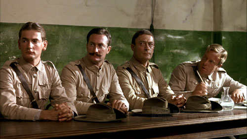 Lewis Fitz-Gerald, Bryan Brown, Edward Woodward, Jack Thompson in Breaker Morant
