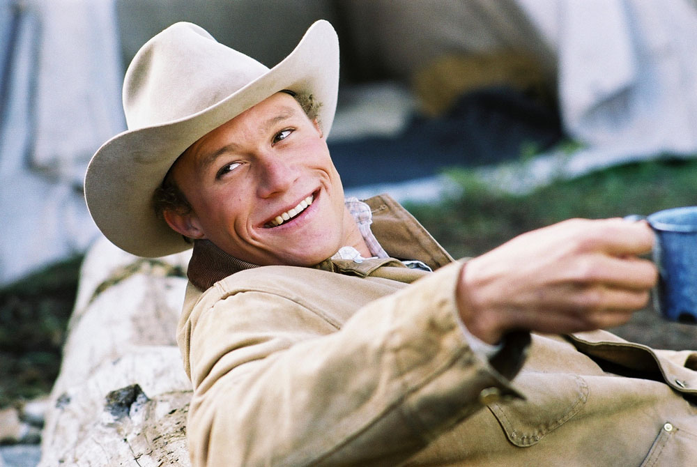 Heath Ledger in Brokeback Mountain by Ang Lee
