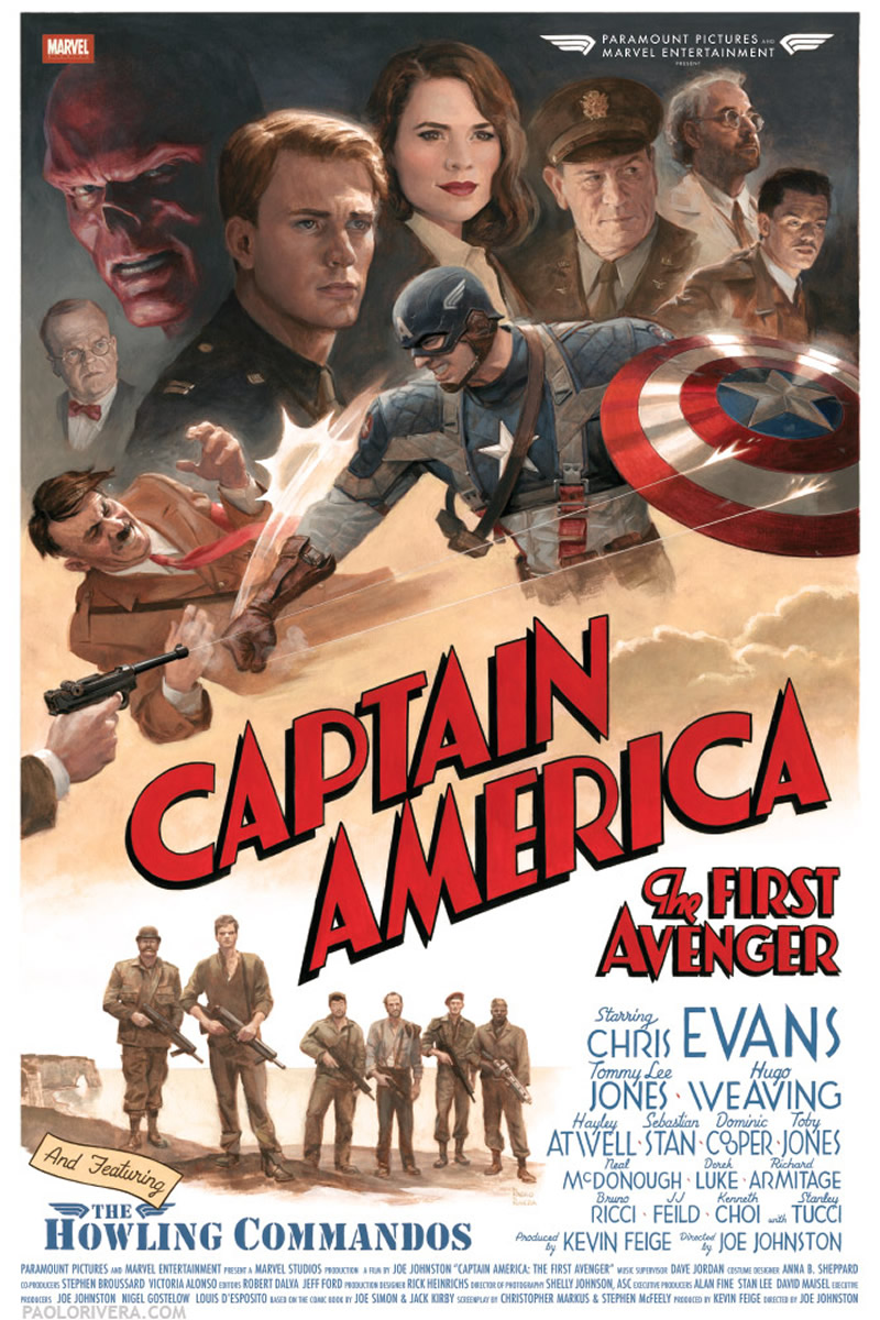 Captain America poster retro