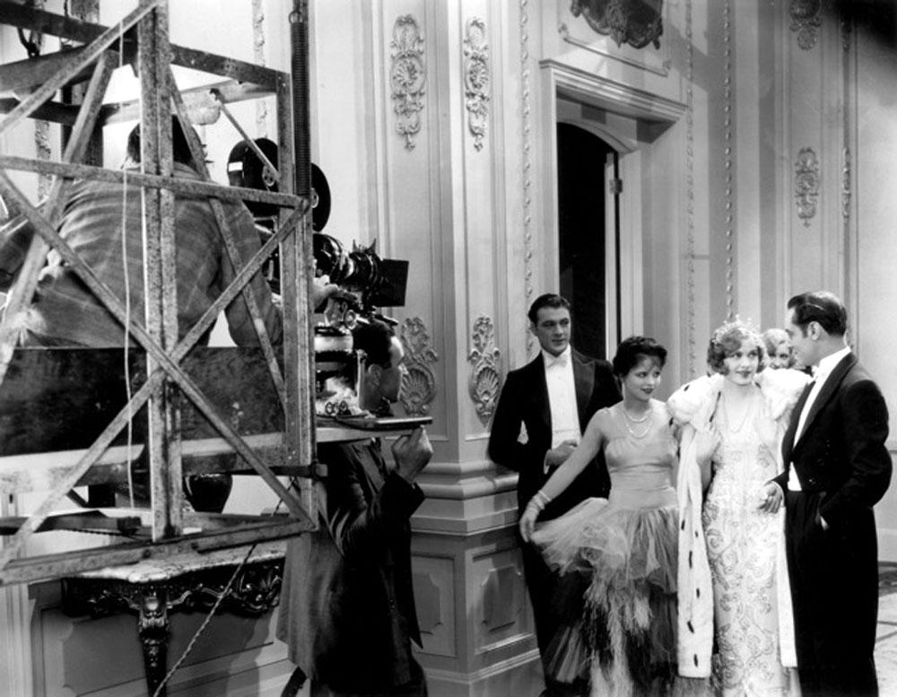 Frank Lloyd, Gary Cooper, Clara Bow, Esther Ralston, Einar Hanson in Children of Divorce