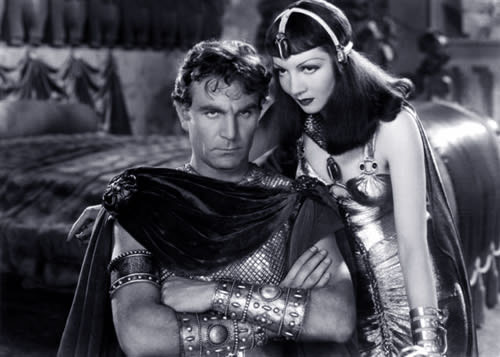Claudette Colbert and Henry Wilcoxon in Cleopatra by Cecil B. DeMille