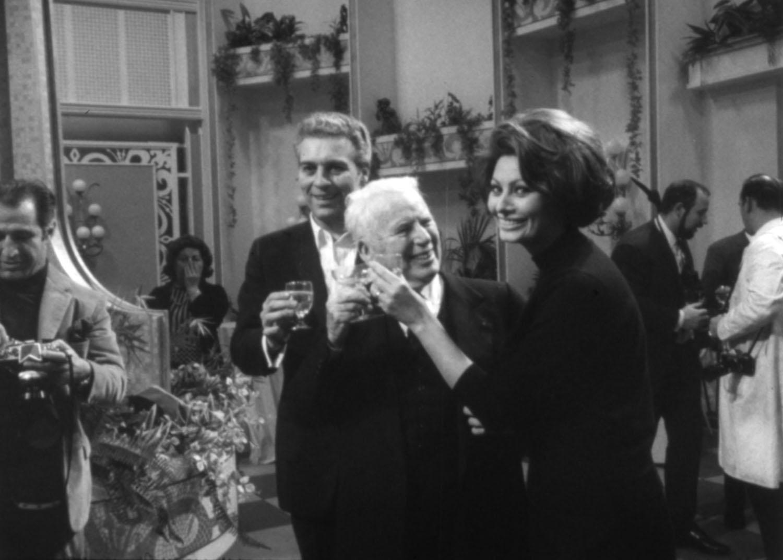 Charles Chaplin, Sophia Loren in The Countess from Hong Kong