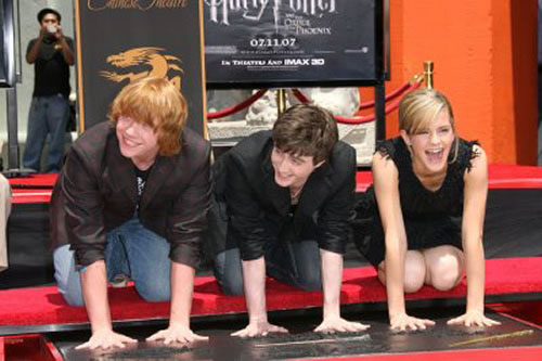 Rupert Grint, Daniel Radcliffe, Emma Watson, Chinese Theatre cement ceremony