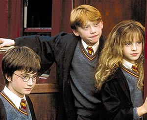 Daniel Radcliffe, Rupert Grint, Emma Watson, Harry Potter and the Sorcerer's Stone