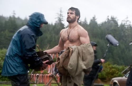 Henry Cavill shirtless Superman