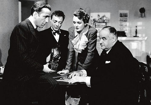Humphrey Bogart Mary Astor Peter Lorre Sydney Greenstreet The Maltese Falcon
