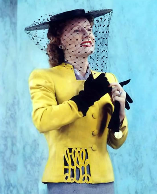 Irene Dunne color photo