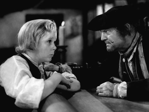 Jackie Cooper, Jim Hawkins, Lionel Barrymore, Treasure Island