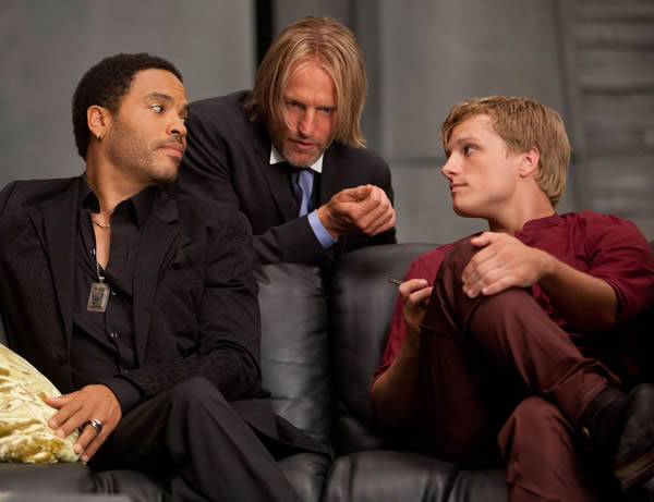 Josh Hutcherson Lenny Kravitz The Hunger Games Woody Harrelson