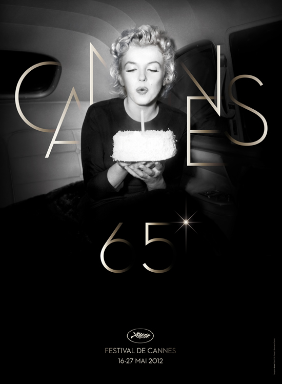 Marilyn Monroe Cannes 2012 poster