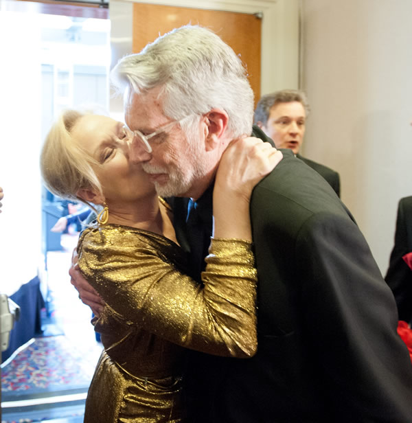 Meryl Streep kissing J. Roy Helland