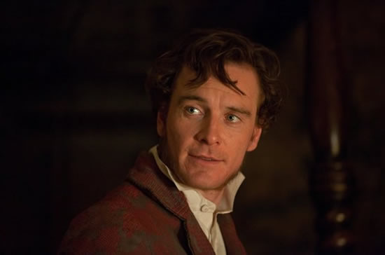 Michael Fassbender as Rochester in Cary Joji Fukunaga's Jane Eyre