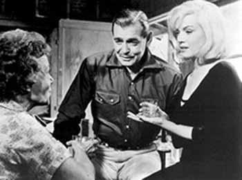 Thelma Ritter, Clark Gable, Marilyn Monroe in The Misfits by John Huston