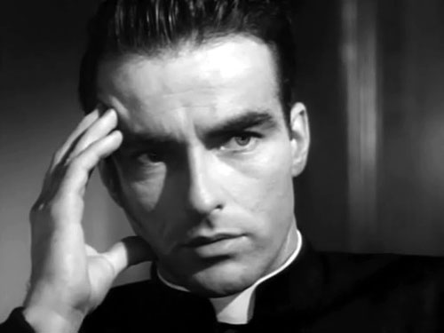 Alfred Hitchcock thriller I Confess Montgomery Clift