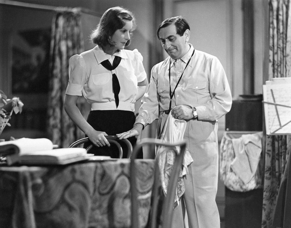 Greta Garbo, Ernst Lubitsch on the set of Ninotchka