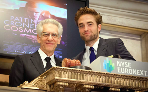 Robert Pattinson NYSE David Cronenberg Cosmopolis