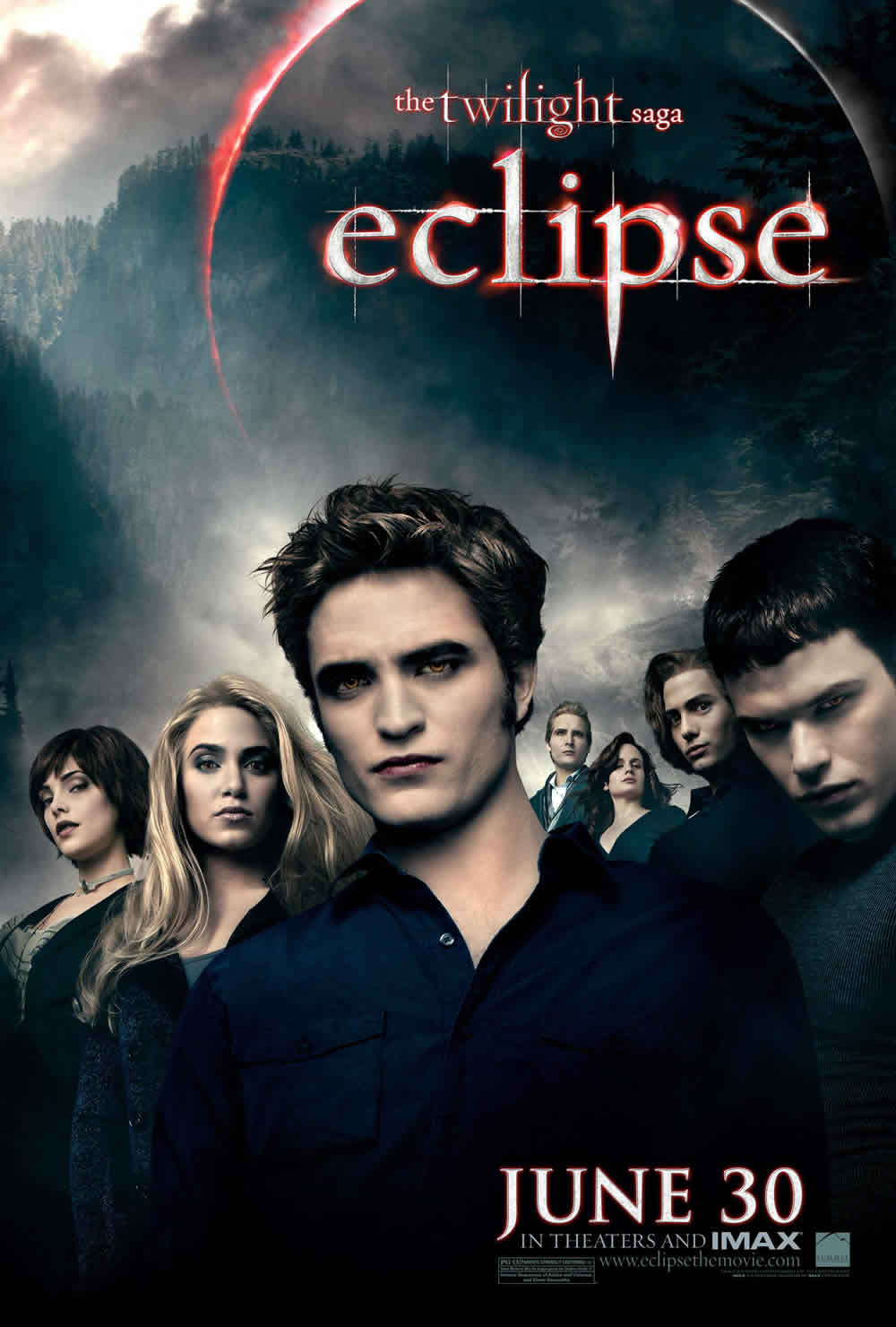 Robert Pattinson Xavier Samuel Nikki Reed Ashley Greene Eclipse poster