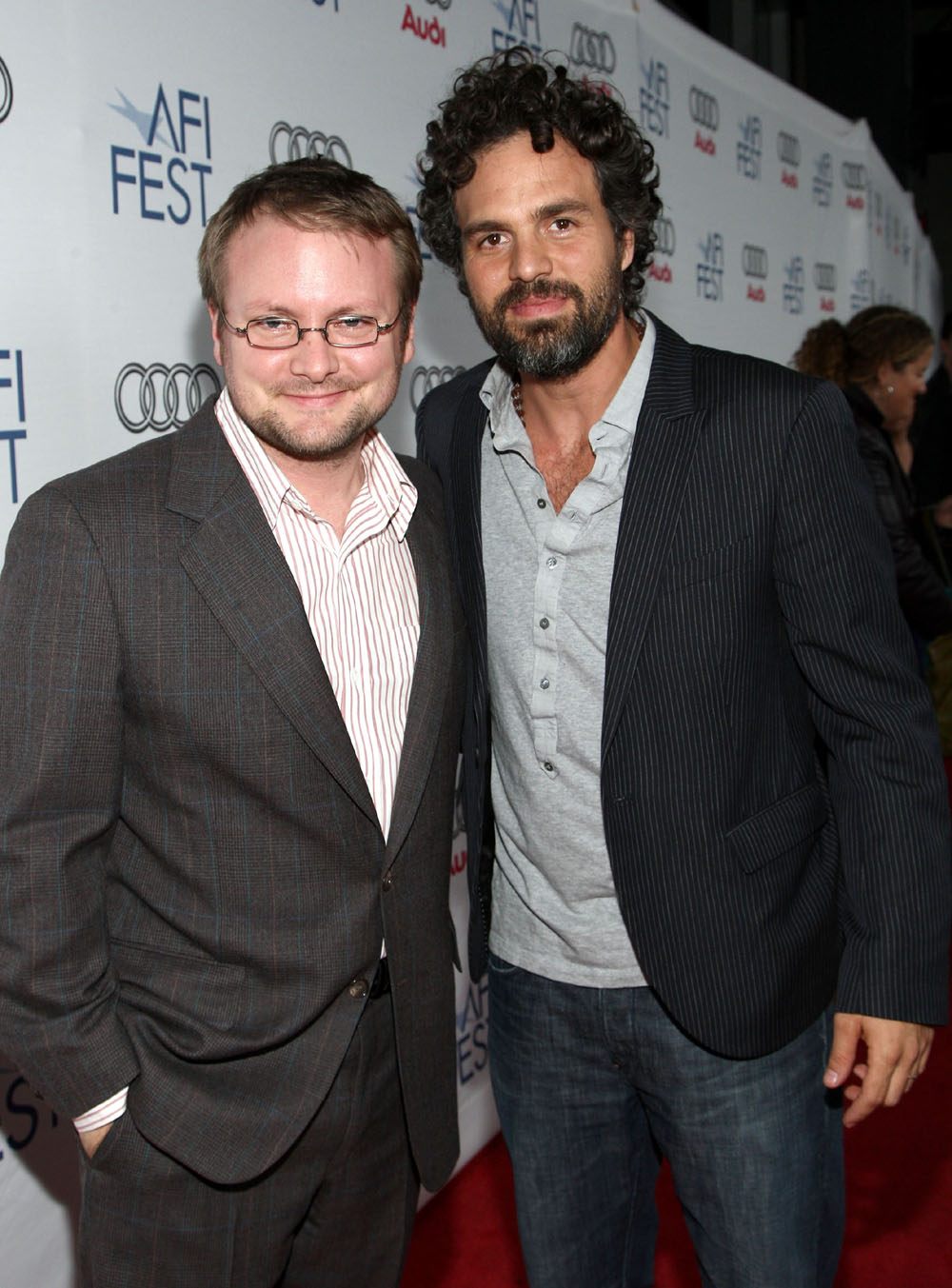 Mark Ruffalo, Rian Johnson at AFI FEST 2008