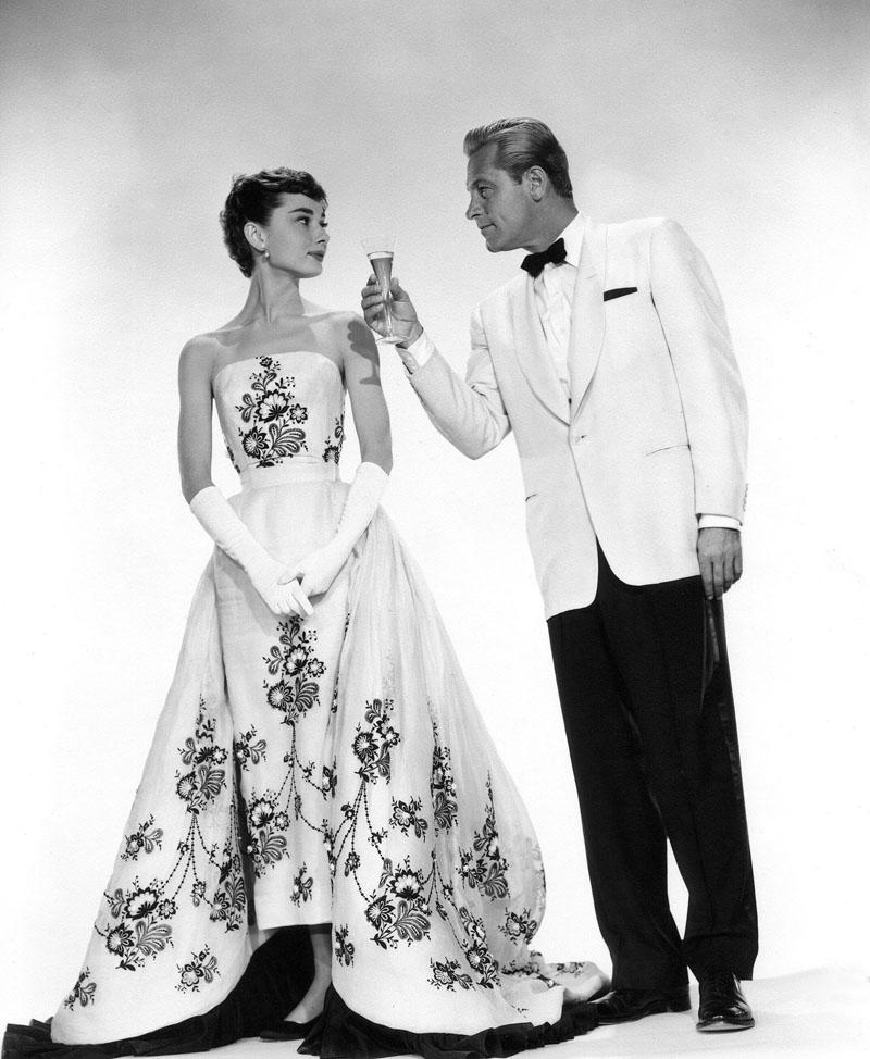 Audrey Hepburn, William Holden in Sabrina